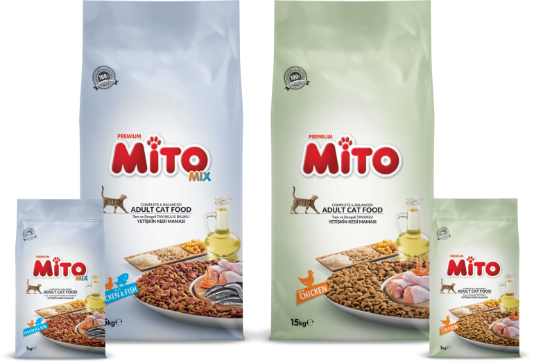 Mito and MitoMix Adult Cat Food Products