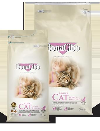 Bonacibo Adult Cat Light & Sterilised Package